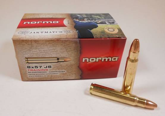 NORMA JAKTMATCH 8X57 JS 123grain TRAINING