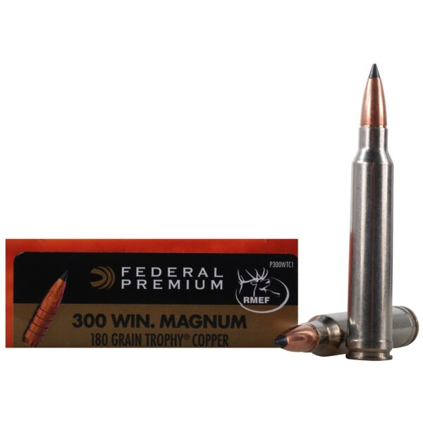 FEDERAL AMMO TROPHY COPPER .300 WIN. MAGNUM  180gr